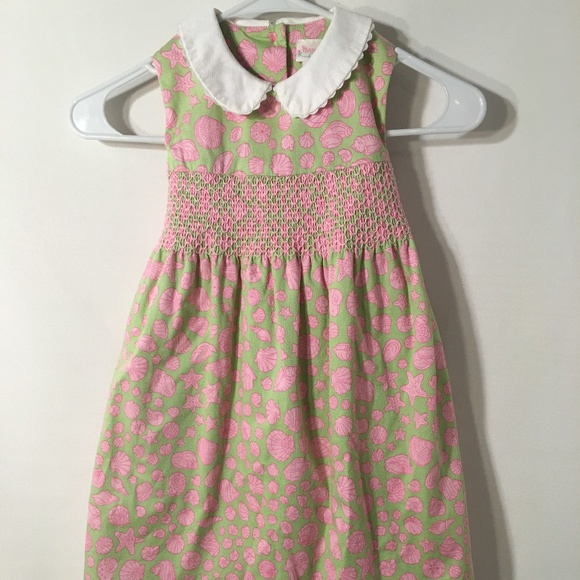 6a998f058f4 Hartstrings Other - Hartstrings Smocked Sea Shell Sleeveless Dress